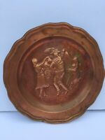 Chili Country Chilean COPPER ART PLATE MIDCENTURY Vintage Collectible Wear