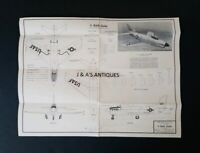 Original 1952 DESIGN PLANS North American Aviation USAF F-86D Sabre JET Fighter