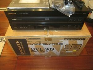 Pioneer DVL-909 LaserDisc DVD/CD/VCD Combo Player W/ REMOTE & MANUAL MINT COND.