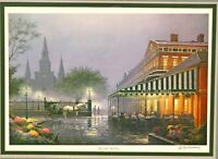 Cafe In The Vieux Carre in New Orleans framed Americana print by James Hussey