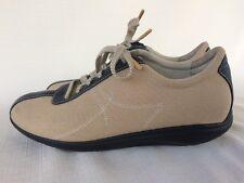 SoftWalk Health Glide Tan Canvas Ladies Walking Toning Rocker Shoes Sz 11 M