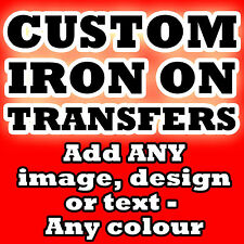 Custom Iron On T Shirt Transfer Personalised Text Any Color