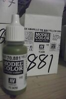 MODEL HOBBY PAINT 17ml BOTTLE  VAL881  AV Vallejo Model Color - Yellow Green