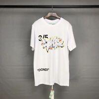 Off White Virgil Abloh 3/5 graffiti Dondi loose cotton T-Shirt Men