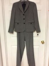 Luciano Dantes ladies work pant suit size regular 8 gray/ red   13
