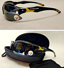 Read Listing! Pittsburgh Steelers 3 PC SET! Blade Sunglasses, Case, Lens Cloth!