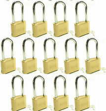 Lock Brass Master Combination #175LH (Lot of 13) Long Shackle Resettable Secure