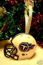 CHRISTMAS BELL FOOTBALL ORNAMENT TENNESSEE TITANS