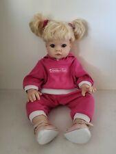 "Lee Middleton Reagan Doll 19"" Blonde Blue Eyes Reva Schick 1998 Pink Hoody Shoes"