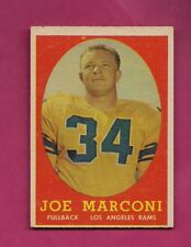 1958 TOPPS # 63 RAMS JOE MARCONI  ROOKIE EX-MT CARD (INV# A5011)