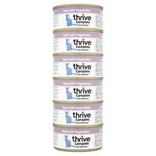 6 x thrive Wet Cat Food Beef with Vegetables 100% Natural Meat Complete Tin, 75g