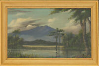 Framed Mid 20th Century Oil - Mountain Landscape