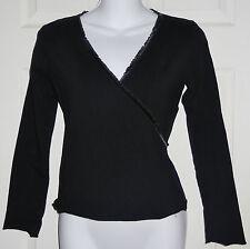 NWOT MANDALA Womens Wrap Around Shirt Stretch German Made L/S Sz S