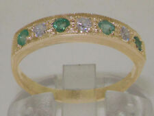 Emerald Yellow Gold Anniversary Fine Rings