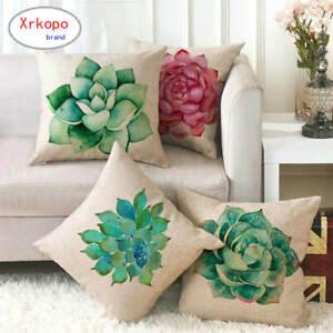 45cm*45cm Succulent plants linen/cotton throw pillow covers couch cushion cover