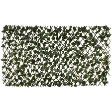 Expanding Willow Trellis with Artificial Leaves Garden Fence Screening 1M x 2M