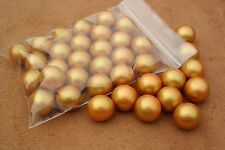 25 x Gold paintballs, ammo for Pocket Shot & similar catapults & slingshots