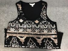 Charming Charlie Womens Tank Top Size Small Sequince