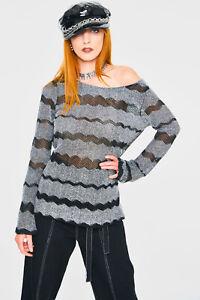 Jawbreaker Womens Metamorphic Sweater Jumper Cardigan Alternative Gothic Punk