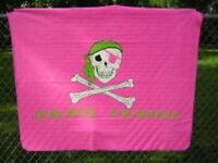 "Pink Pirate Princess Jolly Roger Flag 50x60 Polar Fleece Blanket Throw 50""x60"""