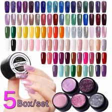 5 Boxes/Set UV Gel Polish Set Glitter UV LED Lamp Shiny Pearl Varnish 180 Colors