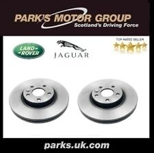 NEW GENUINE LAND ROVER REAR SOLID BRAKE DISCS PAIR - LR027123