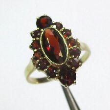 219 - Klassischer Ring aus Gelbgold 333 mit Granat - 2181-