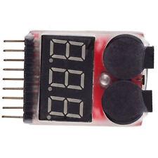 Neu 1-8S Lipo/Li-ion/Fe Battery Voltage 2IN1 Tester Low Voltage Buzzer Alarm