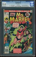 Ms Marvel 1 1977 CGC 9.4 NM NEWSSTAND White Pages First Appearance of Ms Marvel