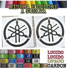 Coppia adesivi logo yamaha Diapason misura e colore a scelta
