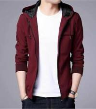 Plain Hoodie Jacket Red (Small)