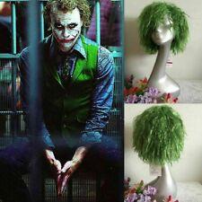Adult Joker Cosplay Wig Green Wig Batman The Dark Knight Short Green Wave Hair