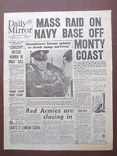 WW2 Newspaper Eisenhower Buchenwald Holocaust April 19 1945 Daily Mirror