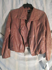 Super Cute XOXO XL leather-suede look lightweight jacket ,snakeskin effect nwt