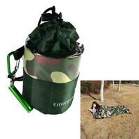 Camouflage wasserdichter wiederverwendbarer Notschlafsack Survival Camping S3J1