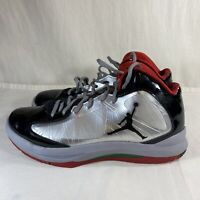 Air Jordan Mens Aero Flight Flywire Basketball Shoes Black Lace Up Size 9.