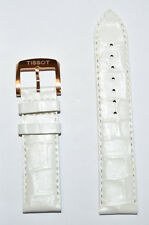Original Tissot QUICKSTER LADY 19mm White Leather Watch Band Strap For T095417