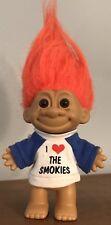 "Vintage I Love Heart Smokies Mountains Russ Troll 5"" Figure Orange Hair Tshirt"