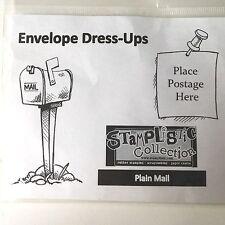 Stamplistic Rubber Stamp Envelope Dress-Ups -  Plain Mail - NEW