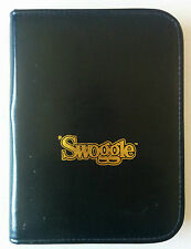 'Swoggle Travel Creative Word Game Chieftain Edition 1987 Leather Case Scrabble