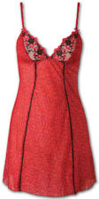 """French brand AUBADE chemise, """"Safari Erotique"""", LACE UP Back, Red/Pink, XS(0-2)"""