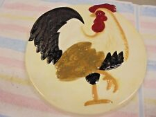 """Rooster Ceramic Oven Burner Covers Hand Painted Vintage Collectible 11.5""""  10.75"""