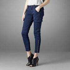 $231 J Brand 1229 Houlihan Skinny Ankle Zip Cargo Pants in Worn Marine 27 MINT
