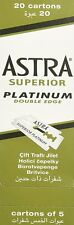 100 Astra Superior Platinum double edge razor blades