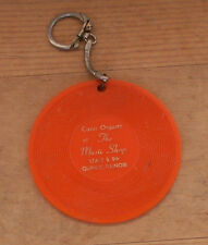 vintage Quincy Illinois key chain orange record Conn Organ Music Shop