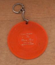 vintage Quincy Illinois key chain orange record Conn Organ Music Shop