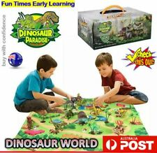 Dinosaur Park Jurrasic Toys Play Mat Educational Realistic Dino World Playset AU