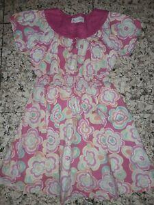GIRLS Sz 4 pink MILKSHAKE floral dress CUTE!