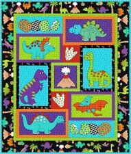 Kids Quilts Dino Daze Dinosaur Crib Applique Quilt Pattern