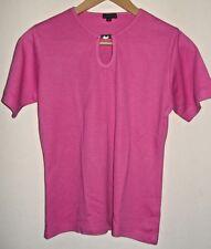 Janique HOT PINK Polyester/Cotton T-SHIRT  - Size Medium